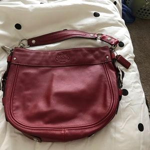 Coach red Zoey bag